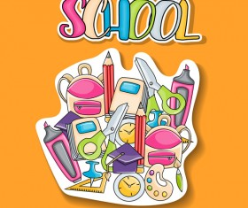 School hand drawn background vector 09
