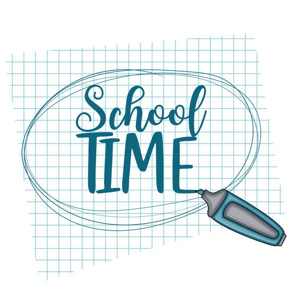 School time background vector 02