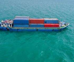 Sea container ship Stock Photo