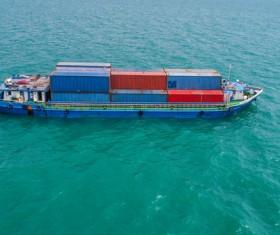 Sea container ship Stock Photo