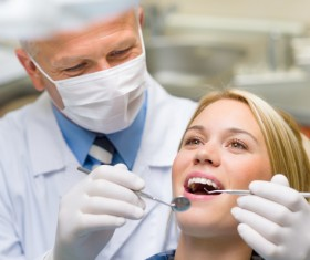 See the dentists patient Stock Photo