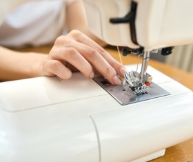 Sewing machine making clothes Stock Photo 02