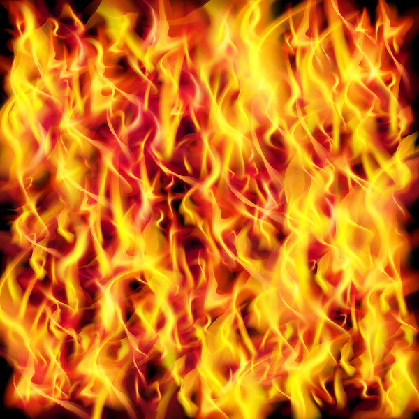 Shiny fire background design vector
