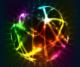 Shiny light sphere vector background