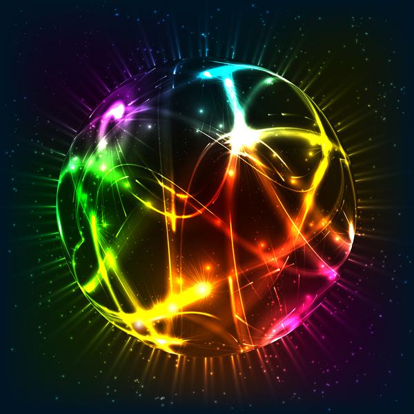 Shiny light sphere vector background