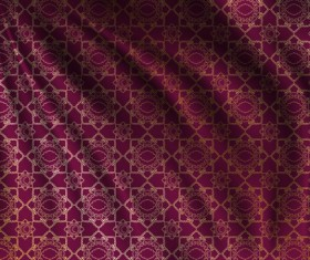 Silk fabric pattern design vector 06