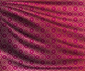 Silk fabric pattern design vector 12
