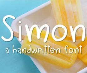 Simon font