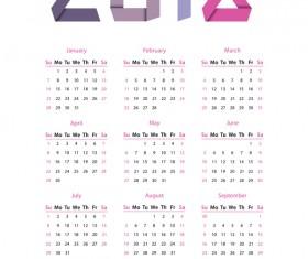 Simple calendar 2018 vector material 02