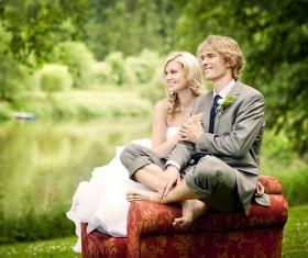 Small fresh wedding Stock Photo