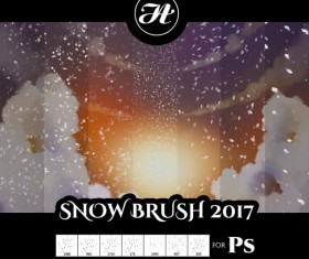 Snow effect photoshop brushes