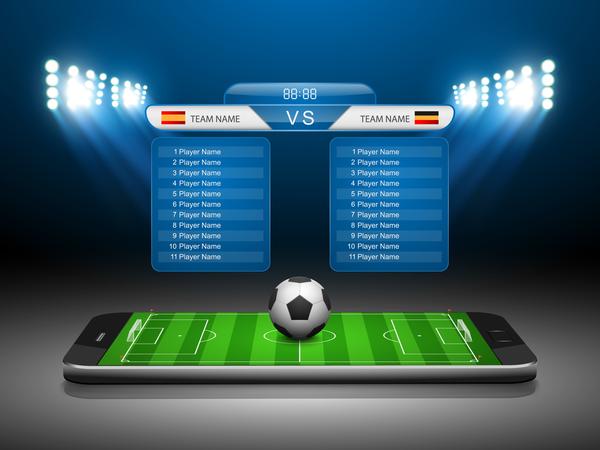 soccer scoreboard template vectors 01 free download