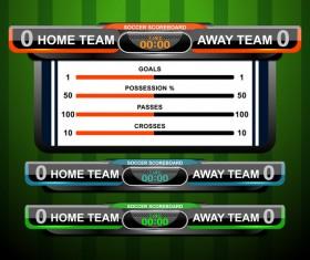 Soccer scoreboard template vectors 02