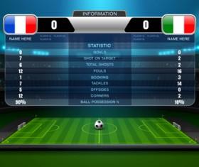 Soccer scoreboard template vectors 03