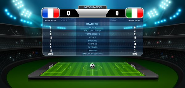 Soccer Scoreboard Template Vectors   Vector Cover Free Download