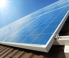 Solar panels on the roof Stock Photo 04