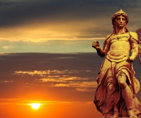 Statue of Rome Stock Photo