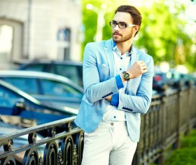 Street casual wear for men Stock Photo 01