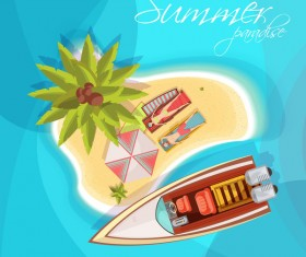 Summer holiday islands background vector