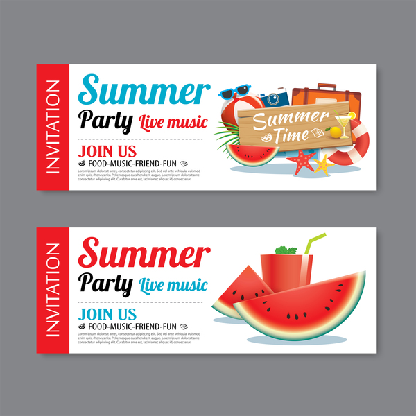 Summer party live music banners