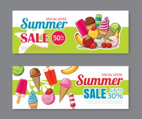Summer special offer banners design vector 02