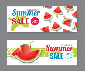 Summer special offer banners design vector 03
