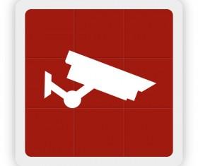 Surveillance cameras icon vector