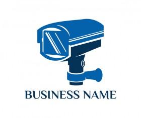 Surveillance cameras logo vector