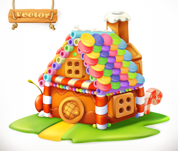 Sweet house 3d vector