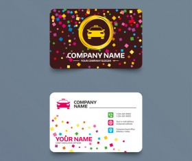 Taxi company business card design vector