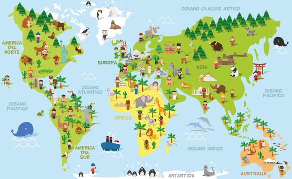 Travel world maps vector material free download