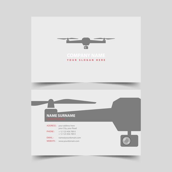 UAV company business card vector 01