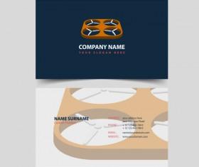 UAV company business card vector 02