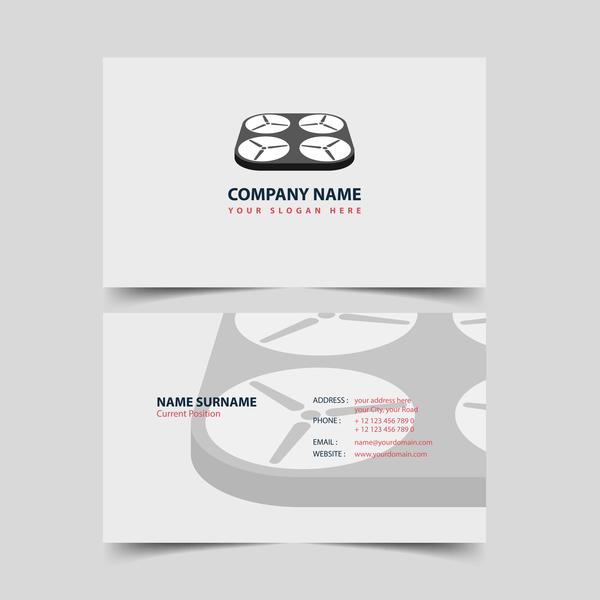 UAV company business card vector 03
