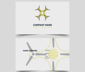 UAV company business card vector 04