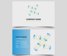 UAV company business card vector 05