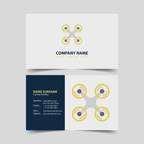UAV company business card vector 06
