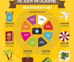 Vacation infographic design vector