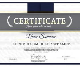 Vector certificate template design material