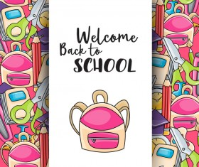 Welcome back to school background vector 01
