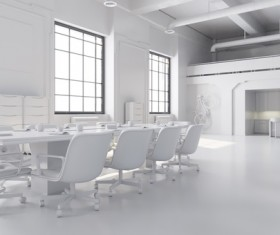 White meeting room Stock Photo