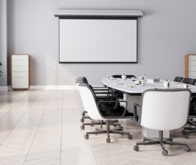 White office space meeting room table Stock Photo 02
