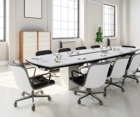 White office space meeting room table Stock Photo 04
