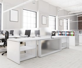White office space meeting room table Stock Photo 06