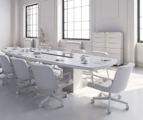 White office space meeting room table Stock Photo 07