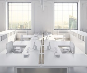 White office space meeting room table Stock Photo 10