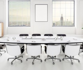 White office space meeting room table Stock Photo 11