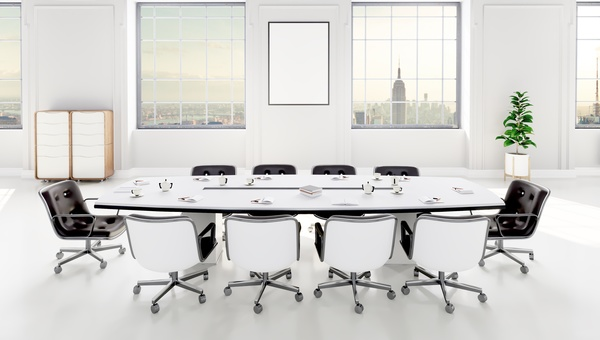 White Office E Meeting Room Table Stock Photo 11