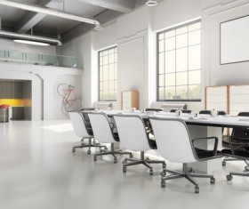 White office space meeting room table Stock Photo 13