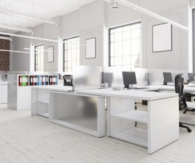 White office space meeting room table Stock Photo 16